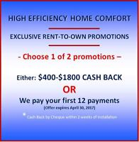 NEW FURNACE / AIR CONDITIONER RENTAL PROMOTIONAL OFFER
