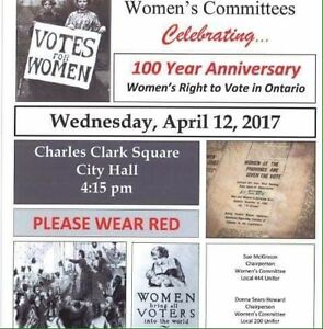 100th Anniversary celebration of the vote for women in Ontario