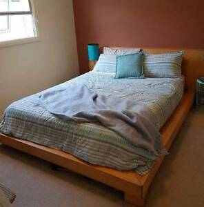 URGENT:  Queen sized timber bed and mattress - slightly damaged Chatswood Willoughby Area Preview