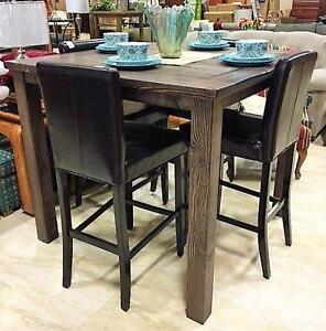 NEW Large Rustic Wood Pub Table.  Seats 8