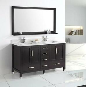 "60"" Traditional Bathroom Vanity- AMAZING DEAL"