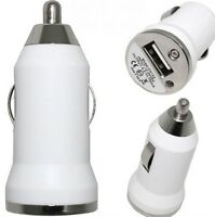 Chargeur blanc AUTO VOITURE allume cigare USB IPHONE 4 GALAXY S