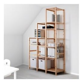 IKEA Shelf/Cupboard IVAR, Pine Wood, 3 Units (two tall, one medium tall)