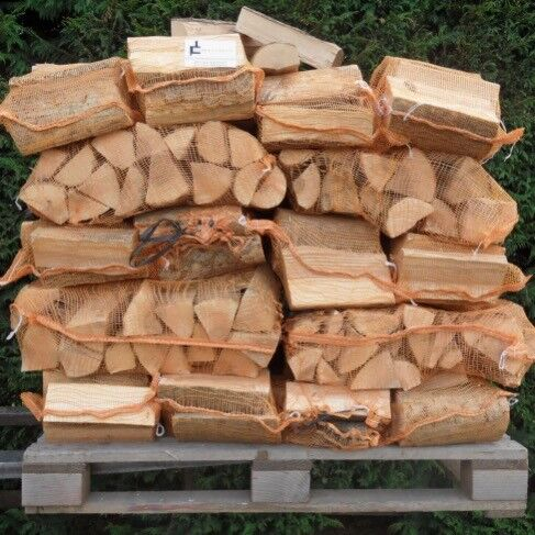 Seasoned Dry Firewood Logs £3.99 Each Or 3 Large Nets For £10 Ready To Burn