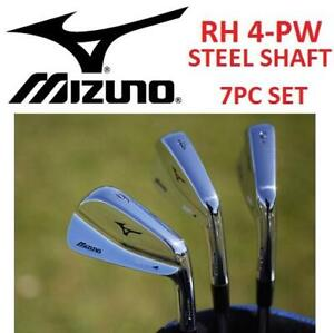 USED MIZUNO 7PC MP-4 IRON SET RH 250237737 GOLF CLUB STEEL SHAFT RIGHT HANDED 4-PW FORGED