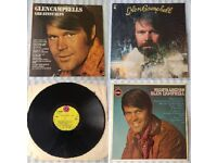 "3 x Glen Campbell 12"" vinyl records/LPs, 'Greatest Hits', 'Wichita Lineman', 'Bloodline', £15 ONO"