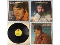 "3 x Glen Campbell 12"" vinyl records/LPs, 'Greatest Hits', 'Wichita Lineman', 'Bloodline', £15 ONO"