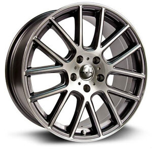 Roues (Mags) RTX Milan 15 pouces 4-100 - Gunmetal machined