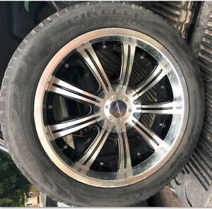 Set of four 20 inch universal mount rims