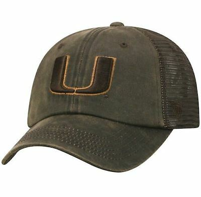 - Miami Hurricanes Hat Adjustable Mesh Chesnut Brown Top of The World NCAA