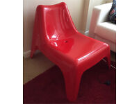 IKEA red plastic Chair (Excellent Condition!!)
