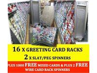 16 X GREETING CARD STANDS / RACKS - Pudsey, Leeds
