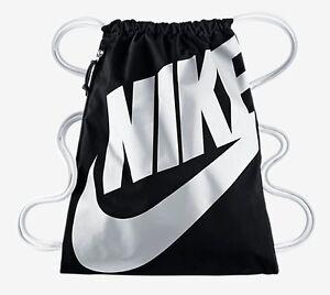 Nike Heritage Gymbag Turnbeutel schwarz black Tasche Freizeit Sport