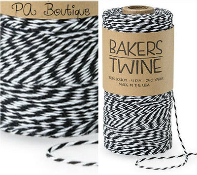 Tuxedo Black & White Duo 4-ply 100% Cotton Baker's Twine *Your Choice of Length*](Baker's Twine)