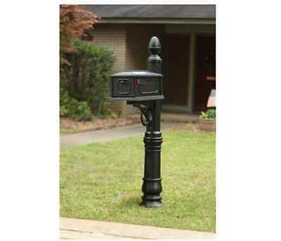 New Heavy Duty All In One Stratford Mailbox Post Combination  Black