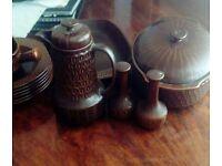 Vintage 60s Wedgwood Pennie pottery set