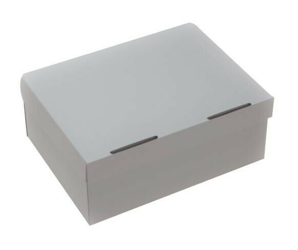 White Shoe Boxes - 10 Pack, Brand NewHEAVY DUTY One-Piece Design With Lid