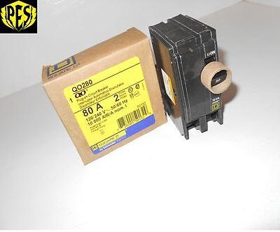 New In The Box Square D Qo280 2 Pole 80 Amp 240v Qo Plug In Breaker Fits Nq