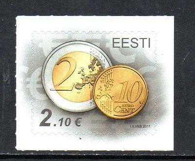 Estonia MNH 2011 Accession to the Euro - Self Adhesive Stamp