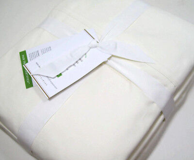 Pottery Barn 400 Thread Count Organic Cotton Ivory King Sheet Set New Organic 400 Thread
