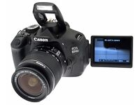 Canon EOS 600D 18.0 MP DSLR Camera - 1080p Video - Includes 18-55mm Lense, Strap and Carry Case