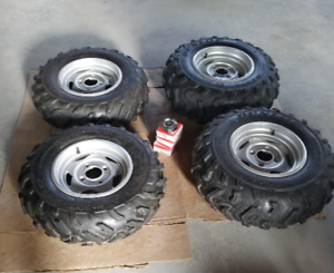 4 ATV alloy rims and tires  (from 2007 Yamaha Grizzly 700 SE)