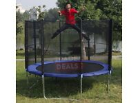 Trampoline 10ft with Safety Net Enclosure + Ladder + Rain Cover