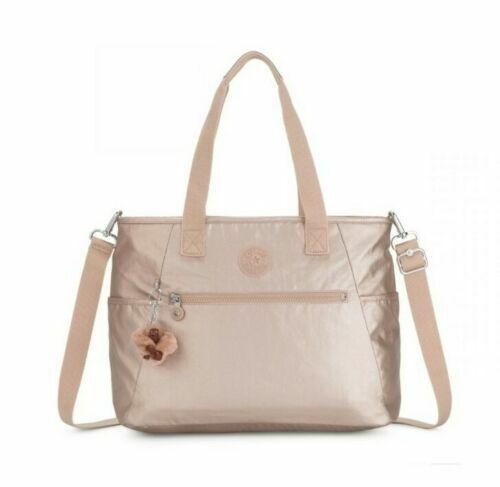 $139 Kipling TM5406 LARGE Gold Metallic Work Tote Travel Bag