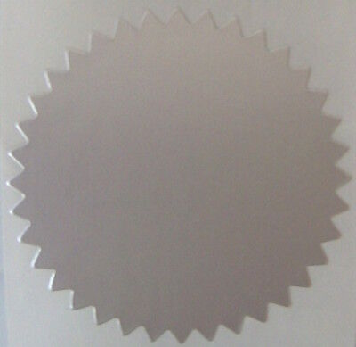 Dull Silver Foil Notary Certificate Seals 2 Inch Burst Roll Of 100 Seals