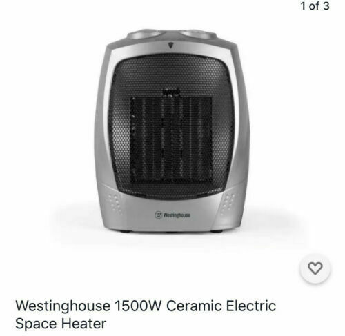 Westinghouse WHD0903 1500W Ceramic Heater with Adjustable Thermostat 3 Settings