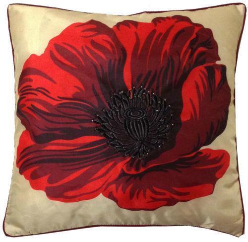 Poppy Pillow EBay Best Poppy Floral Decorative Pillows