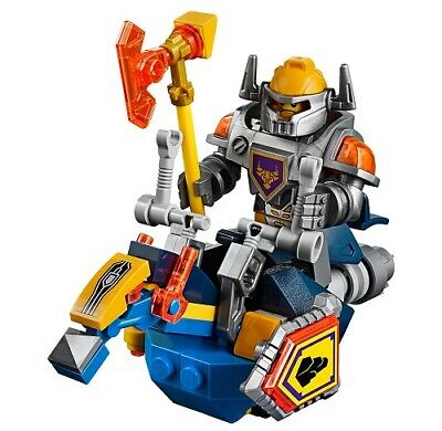 Lego Axl minifigure Nexo Knights 70323 Jestro's Volcano Lair horse shield +++