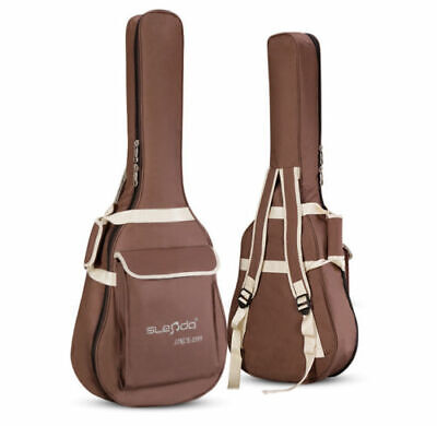 Waterproof Canva Folk Acoustic Guitar Bag Case Double Strap Thick Padded 40/41''