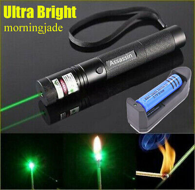 900Miles 532nm Green Lamp Beam Laser Pointer Rechargeable Torch Lazer + Charger