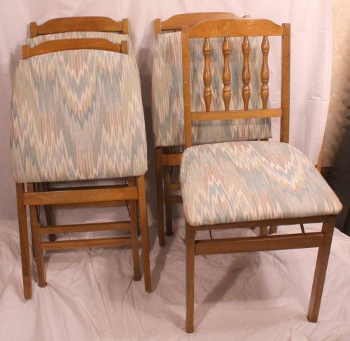 Vintage Stakmore Folding Chairs Ebay