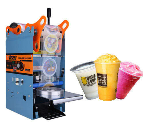 Electric 220V 300Cups/h Plastic Drink Tea Cups Sealer Sealing Machine Home USA