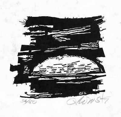SONNENAUFGANG von Hans ORLOWSKI - HDK - Handsignierter OriginalHolzschnitt 1961