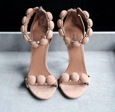 Nib Famous Alaia Studded Bombe Sandals  Sz 37 5  Chair As Seen On Kim Kardashian