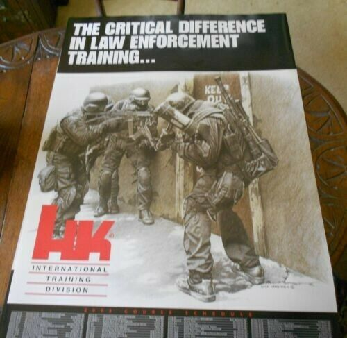 H&K ITD  INTERNATIONALTRAINING DIVISION   POSTER.Factory original SF SWAT OEF