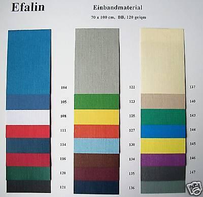 Efalin Feinleinen Überzugspapier Vorsatz 70 x 102 cm BB 121 schwarz
