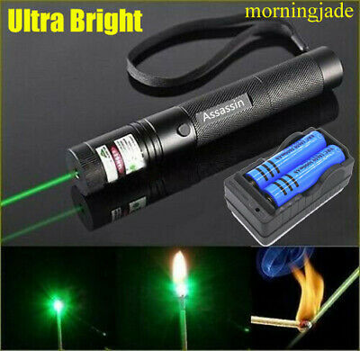 900 Miles Green Laser Pointer Pen 1 Mw Torch Lazer Rechargeablechargerbattery