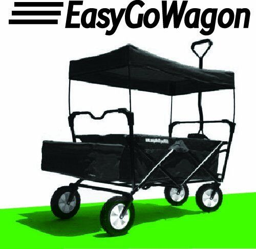 Black EasyGo Wagon New Folding Wagon With Canopy