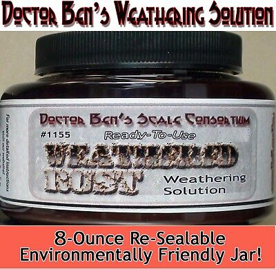 (Weathered Rust Weathering Solution-Doctor Ben's READY-TO-USE 8oz dio41)