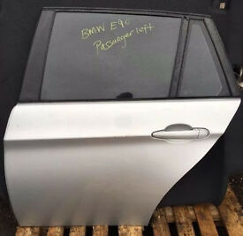 BMW E90 TOURING PASSANGER REAR DOOR SILVER