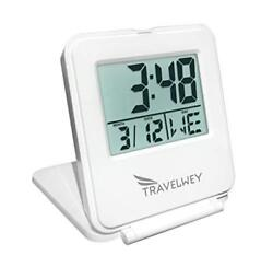 Travelwey Digital Travel Alarm Clock - 12/24 Hour, Date, Snooze, Light