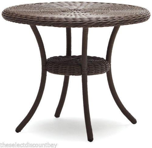 round wicker table ebay. Black Bedroom Furniture Sets. Home Design Ideas