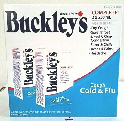 BUCKLEY'S COMPLETE COUGH COLD & FLU SYRUP 2 x 250 mL= 500 ml