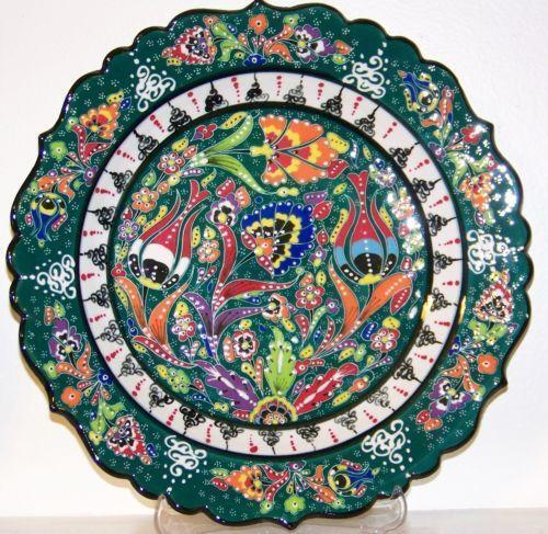 Hand Painted Plate Turkish Ebay