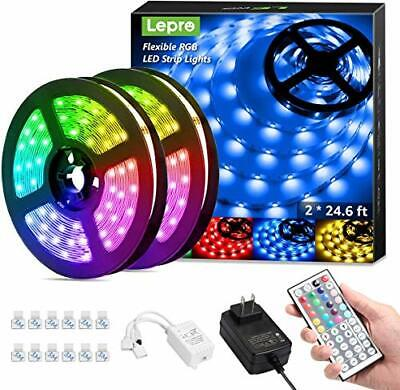 Lepro 50ft LED Strip Lights Ultra-Long RGB 5050 LED Strips with Remote Contro...