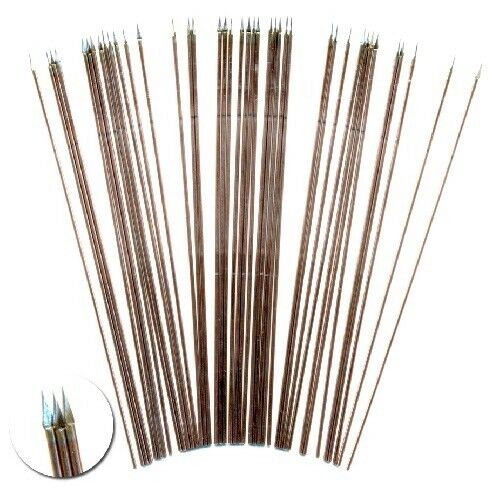 """4"""" (100mm) Long Spears For 28mm Wargaming Figures, With Shaped Spear Points"""